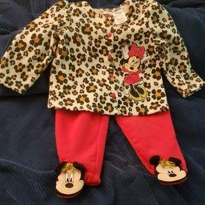 Minnie Mouse leopard print set